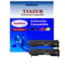 T3AZUR - Lot de 2 Toner Laser Brother compatible TN2005