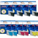 LC1000/LC970XL - Lot de 10 Cartouches compatibles Brother LC1000/LC970 XL